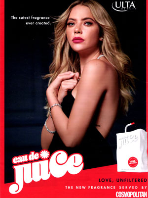 Eau de Juice Love Unfiltered ad Ashley Benson