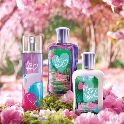 Bath body works love love love bath fragrance body for Bathroom body works