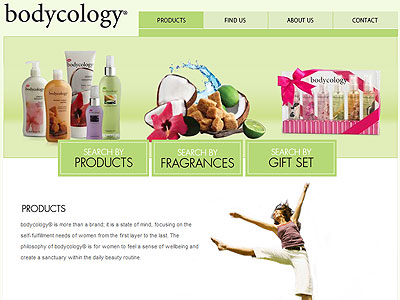 Bodycology Pretty in Paris website