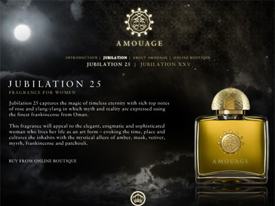 Amouage Jubilation 25 Fragrances Perfumes Colognes Parfums