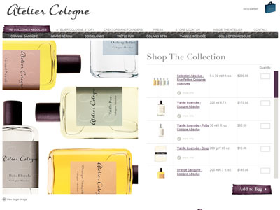 Atelier Cologne Sous le Toit de Paris website