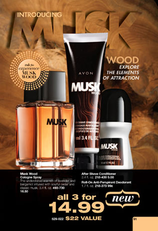 Avon Musk Wood Cologne An Woody Aromatic Fragrance For Men