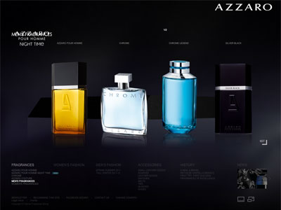 Azzaro Chrome website