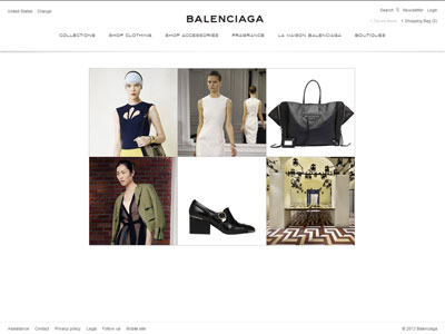 Balenciaga Paris L'Essence website