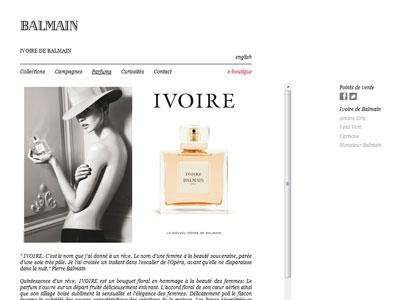 parfum ivoire de balmain sephora