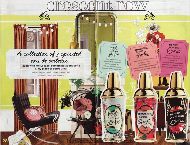 Benefit Cosmetics Crescent Row perfumes