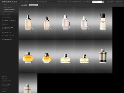 Burberry Brit Sheer website