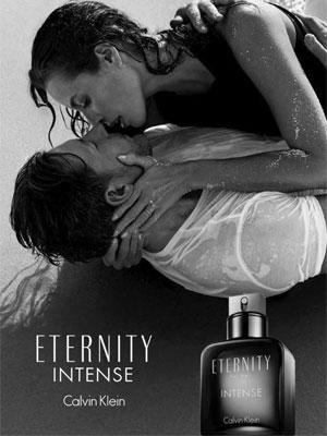 Eternity for Men Intense Ad - model Christy Turlington and Ed Burns