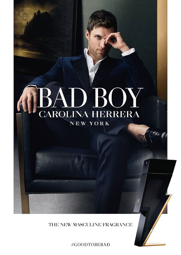 Ed Skrein for Carolina Herrera Bad Boy
