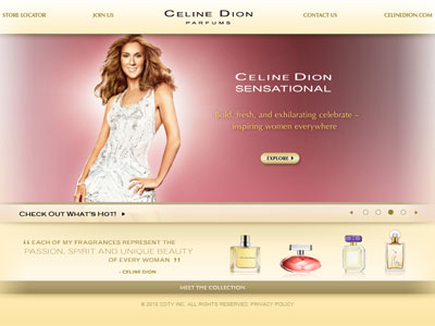 Celine Dion Sensational website