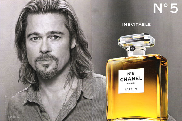 Brad Pitt Chanel No. 5 perfume celebrity endorsements