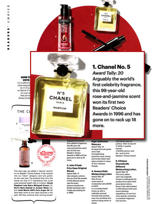 Chanel No.5 Allure Readers' Choice Awards Hall of Fame