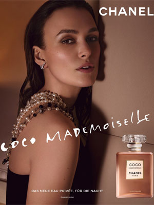 Chanel Coco Mademoiselle L'Eau Privee ad starring Keira Knightley