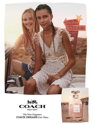 Coach Dreams ad Jean Campbell and Binx Walton