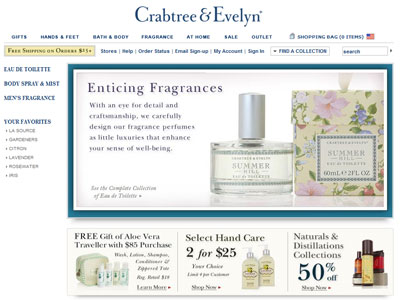 Lily by Crabtree & Evelyn website