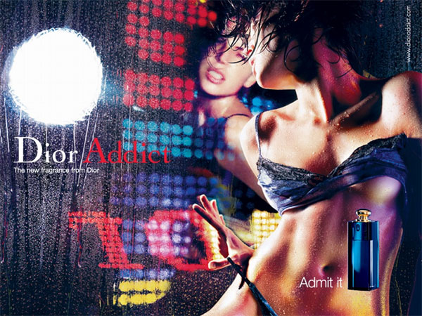 Image result for dior addict perfume ad