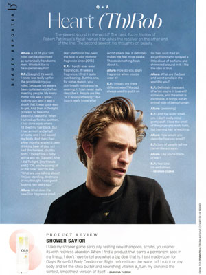 Dior Homme Robert Pattinson Q & A