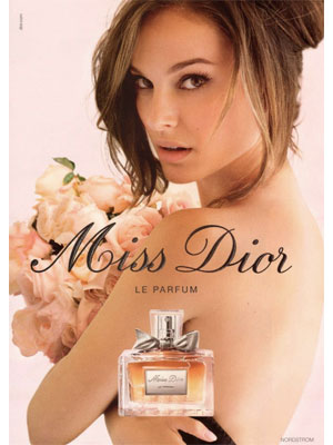 Natalie Portman Miss Dior Perfume celebrity endorsements