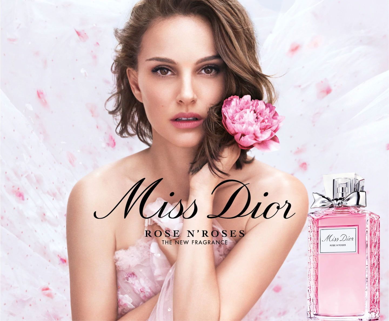 Miss Dior Rose N' Roses ad Natalie Portman