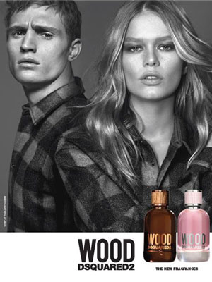 Dsquared2 Wood for Her and Him Ad