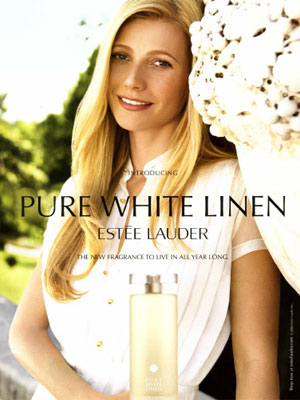 Gwyneth Paltrow for Pure White Linen Estee Lauder perfume