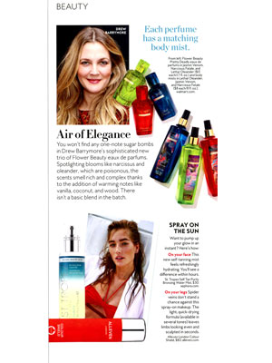 InStyle Drew Barrymore Editorial
