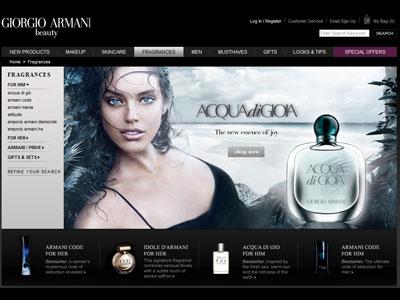 giorgio armani website