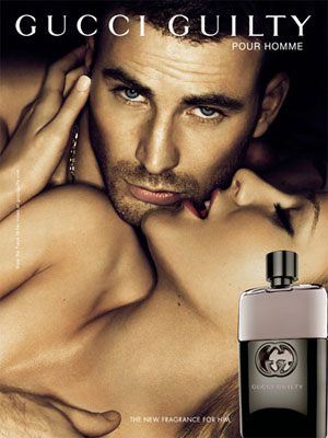 Chris Evans Gucci fragrance celebrity endorsement adverts