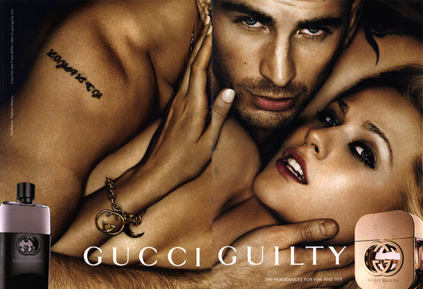 Chris Evans Gucci fragrance celebrity endorsements