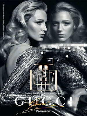 Blake Lively Gucci Premiere perfume celebrity endorsement ads