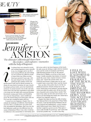 Jennifer Aniston Chapter One Perfume Articles