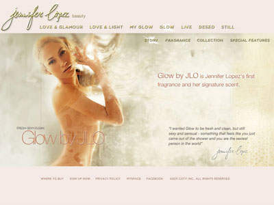 Jennifer Lopez Love and Light website
