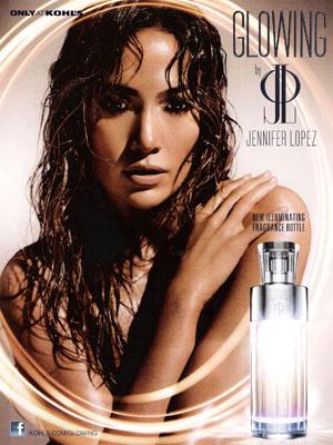 Jennifer Lopez Glowing perfume celebrity endorsements