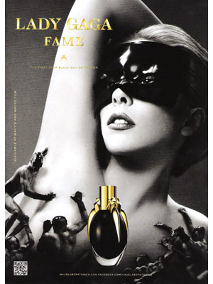 Lady Gaga Fame perfume celebrity endorsement ads