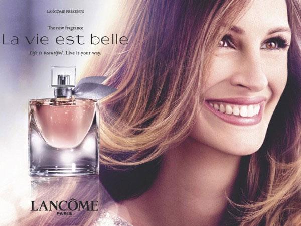 Julia Roberts Lancome perfume celebrity endorsements