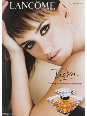 Penenlope Cruz Lancome Tresor celebrity endorsement ads