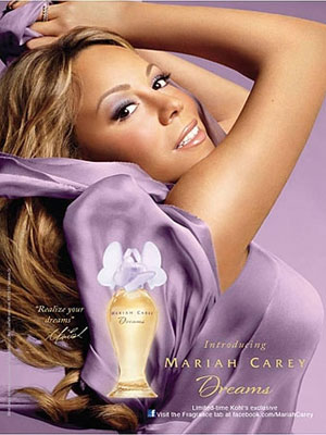 Mariah Carey Dreams perfume celebrity endorsement ads