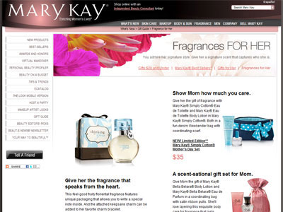Mary Kay Simply Cotton website