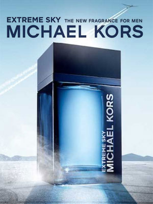 Michael Kors Extreme Sky fragrance ad campaign 2020
