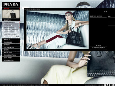 Prada Candy website