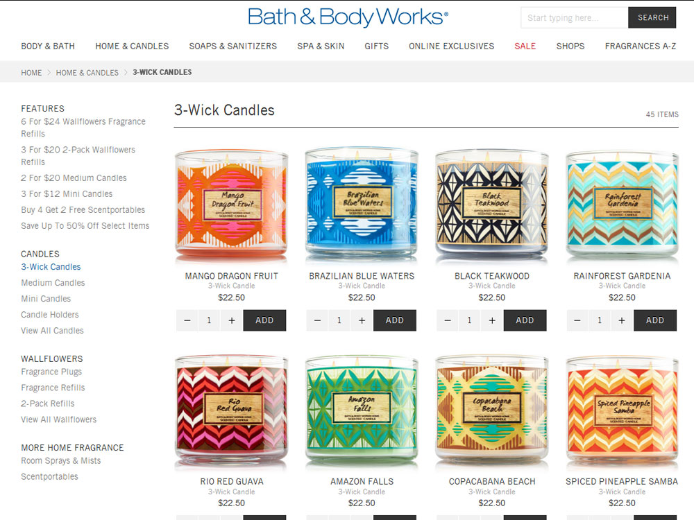 Bath Amp Body Works Brazil Collection Tropical Fragrances