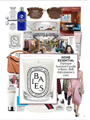 Diptyque Candles Baies editorial InStyle