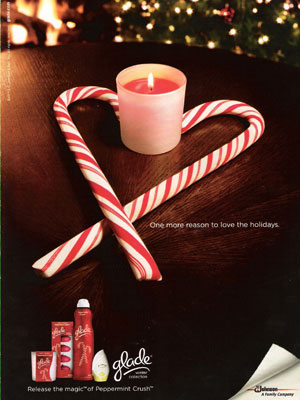 Glade Peppermint Crush holiday home fragrances