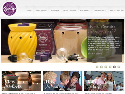 Scentsy Room Spray website