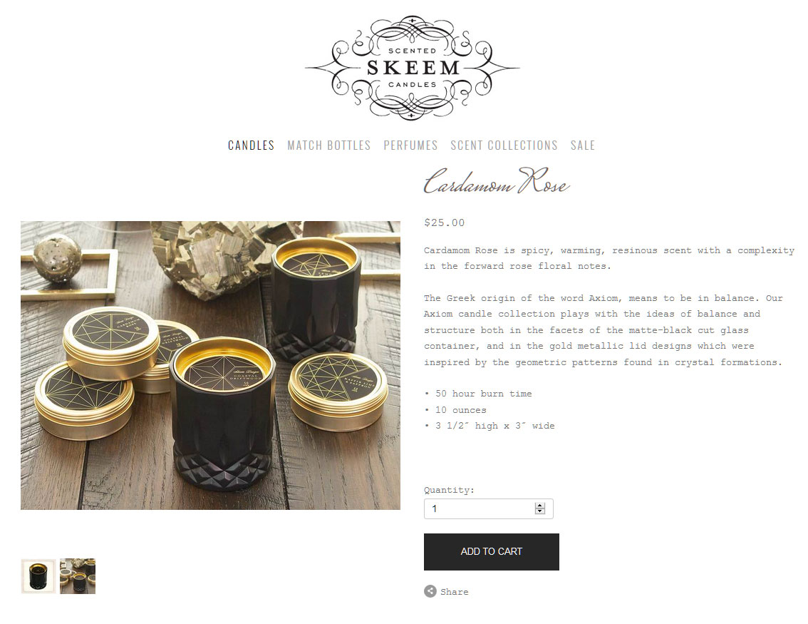 Skeem Axion Candles Home Fragrances - Candles, Air Fresheners, Scent