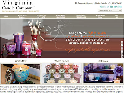 WoodWick Candles Wood Essence Collection website