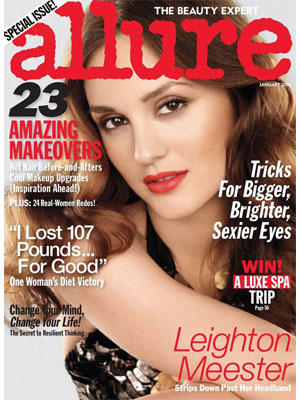 Allure, January 2011 - Leighton Meester