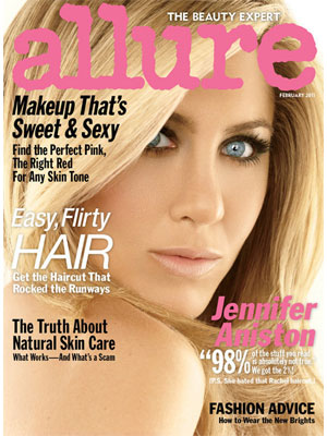 Allure Magazine, Feb 2011, Jennifer Aniston