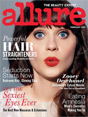 Allure, February 2012, Zooey Deschanel