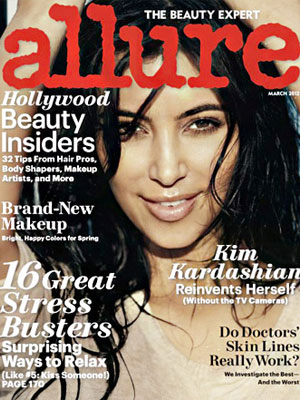 Allure, March 2012, Kim Kardashian